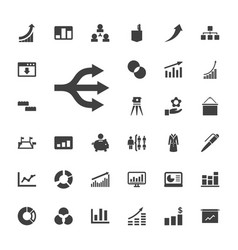 33 infographic icons vector image