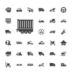 33 truck icons vector