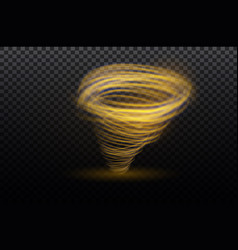 A glowing tornado rotating wind beautiful wind vector