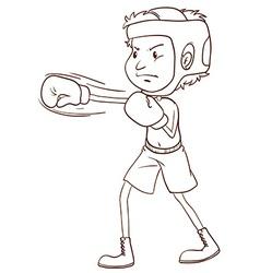 A plain sketch of a boxer vector