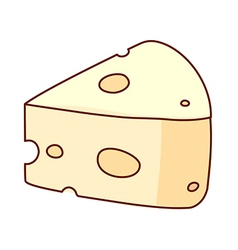 A slice of cheese vector