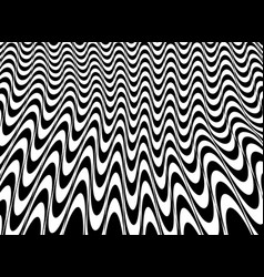 abstract of black and white op art mesh pattern vector image