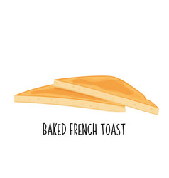 Baked toast icon vector