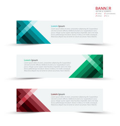 Banner design template and mockup minimalist vector