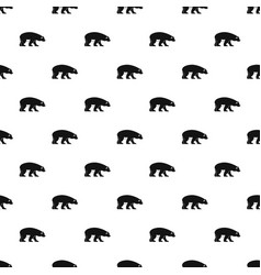 Bear pattern vector