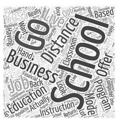 best business schools Word Cloud Concept vector image
