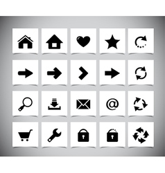 Black icons for web vector