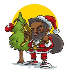 black santa vector image