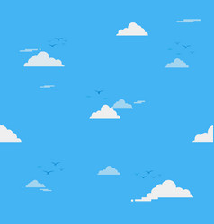 blue sky with clouds on shiny day seamless vector image