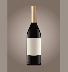 Bottle wine drink image vector