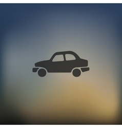 Car icon on blurred background vector