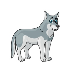 Cartoon grey wolf vector