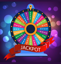 casino spinning luck wheel or turning fortune vector image