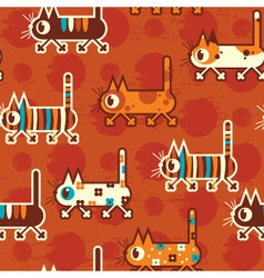 Cats seamless pattern vector
