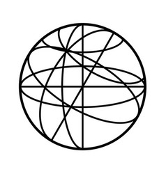 Celestial sphere icon vector