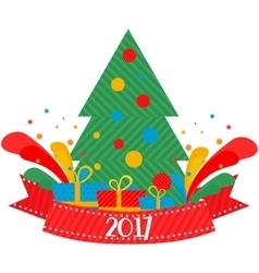 Christmas tree 2017 vector