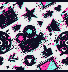 cinema seamless pattern texture with movie vector image