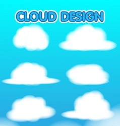 Cloud Design Set Blur Sky vector image