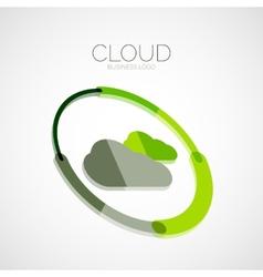 Cloud storage 3d company logo minimal design vector image