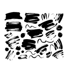 collection of black brush stroke and line vector image