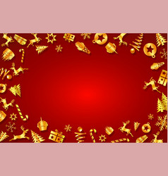 concept christmas festival and new year vector image