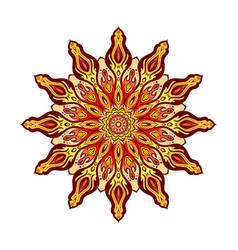 Cool ornamental mandala background vector
