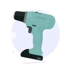 Cordless screwdriver cartoon style vector