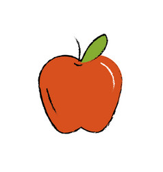 Delicious and healthy apple fruit vector