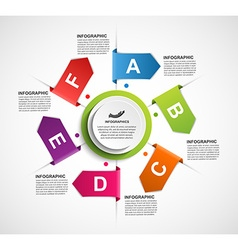 Design infographics with arrows in a circle for vector image