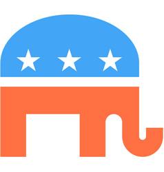 elephant republicans election usa party icon vector image