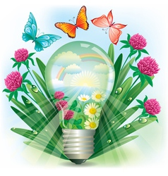 Energy of nature vector image