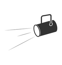 floodlight lamp flashlight business concept vector image