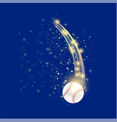 Flying baseball ball vector