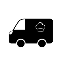 Food delivery vehicle vector
