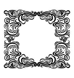 frame swirl vector image