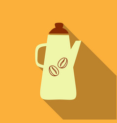 french press coffee maker flat material design vector image