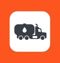 Gasoline tanker truck with petroleum vector