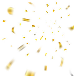 gold confetti explosion isolated background vector image