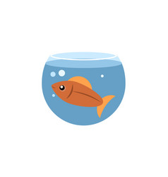 Isolated fish flat icon fishbowl element vector