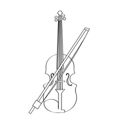 isolated violin icon musical instrument vector image