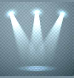 light template on transparent background vector image