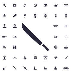 Machete icon vector