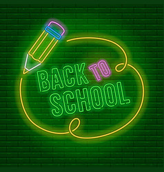 neon back to school vector image