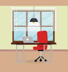 office workplace scene icon vector image