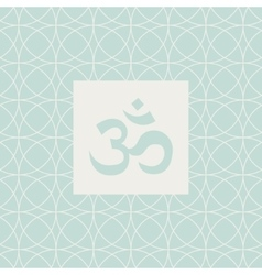 Om Blue Yoga Studio Design Card vector
