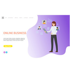 online business woman human resources manager vector image