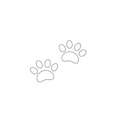 paw print flat icon vector image