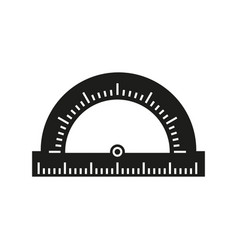 protractor of school icon vector image