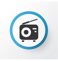 radio icon symbol premium quality isolated tuner vector image