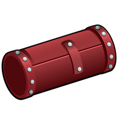 red leather cosmetic tube isolated on white vector image
